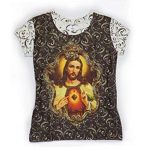 Camiseta babylook Sagrado Coração