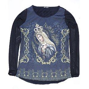 Camiseta Manga Longa Nossa Senhora Rainha