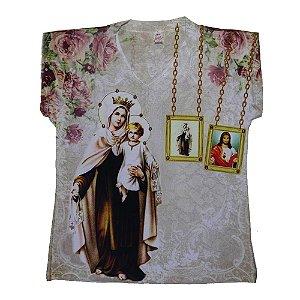 Camiseta babylook Nossa Senhora do Carmo