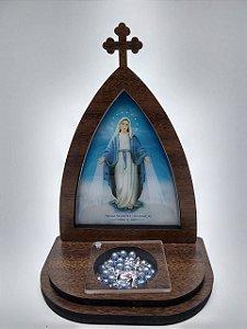Capela com porta terço - Nossa Senhora das Graças (8282)