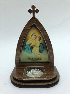 Capela com porta terço - Mãe Rainha (8282)