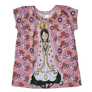 Camiseta Infantil Nossa Senhora de Fátima 6 Anos