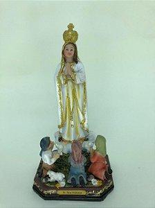 Nossa Senhora de Fátima com pastores 20 cm (A5003)