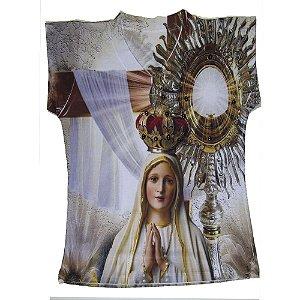 Camiseta Nossa Senhora de Fátima com Ostensório