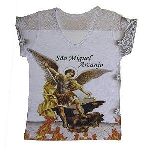 Camiseta babylook São Miguel Arcanjo