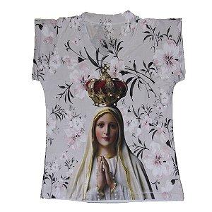 Camiseta babylook Nossa Senhora de Fátima