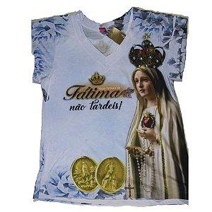 Camiseta Nossa Senhora de Fátima não tardeis!