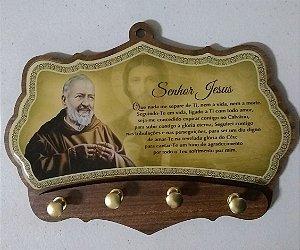 Porta chaves  4 pinos - São Padre Pio (5993)