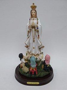 Nossa Senhora de Fátima com pastores 24,1 cm (8088)