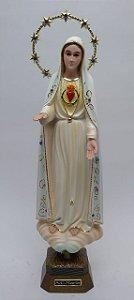 Coração de Nossa Senhora de Fátima fibra 32 cm (5934)