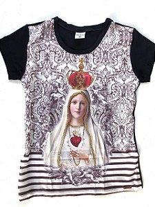 Camiseta Coração de Nossa Senhora de Fátima 7225
