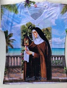 Camiseta babylook Santa Clara