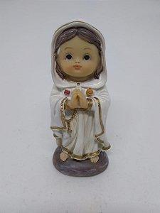 Nossa Senhora Rosa Mística bebe resina 10 cm