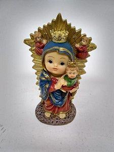Nossa Senhora do Perpétuo Socorro bebe resina 10 cm