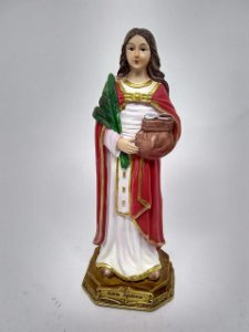 Santa Apolônia resina 22 cm