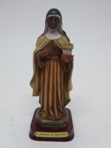 Santa Efigênia resina 13 cm