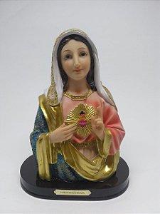 Busto Imaculado Coração de Maria resina 21 cm (7645)