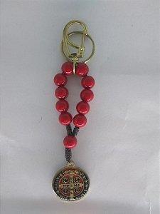 Chaveiro dezena vermelha São Bento (A4596)