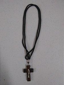 Cordão Cruz madeira PX (9800)