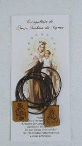 Escapulário de Nossa Senhora do Carmo - Couro (7684)