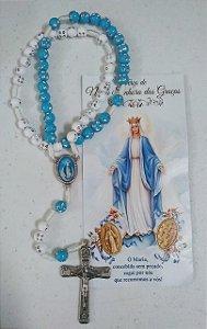 Terço Nossa Senhora das Graças 8mm com oração (6335)