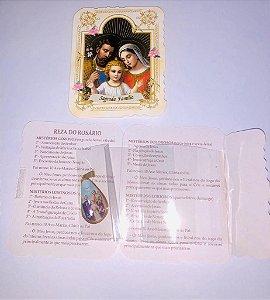Lembrança com medalha Gota - Sagrada Família (0092)