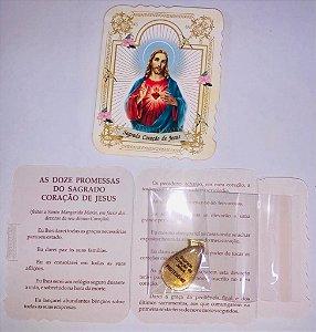 Lembrança com medalha Gota - Sagrado Coração de Jesus (0092)