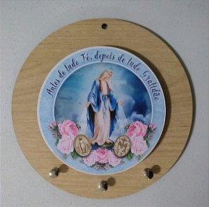 Porta chaves redondo - Nossa Senhora das Graças (8113)