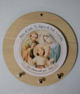 Porta chaves redondo - Sagrada Família (8113)