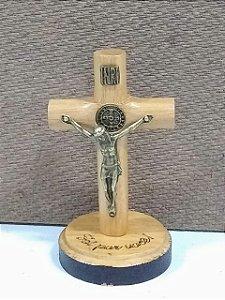 Cruz redonda com pedestal 7cm (7128)