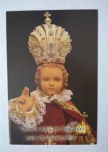 Postal Menino Jesus de Praga - Hesed (3017)