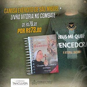 Combo: Camiseta Deus me quer Vencedor! - Verde + Livro Vitória no combate