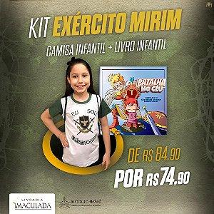 Combo: Camiseta Exército Mirím + bolsa | Instituto Hesed + Livro Batalha no Céu