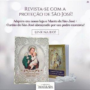 Combo: Devocionário O Manto Sagrado de São José + brinde cordão bento de São José + MANTO de São José (Pequeno)