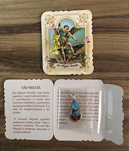 Lembrança com medalha Gota - São Miguel (0092)