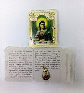 Lembrança com medalha Gota - Santa Luzia (0092)