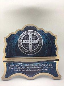 Porta Bíblia MDF - Medalha de São Bento (6330)