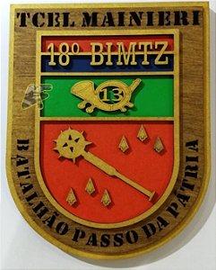 18 BIMTZ PANÓPLIA MILITAR / ESCUDO MILITAR / QUADRO MILITAR