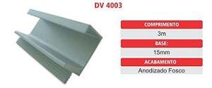 Puxador DV4019 em perfil de aluminio 3mt
