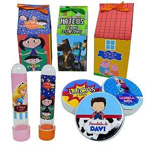 Kit Festa - 30 Milk + 30 Latas + 30 Tubetes - Personalizados
