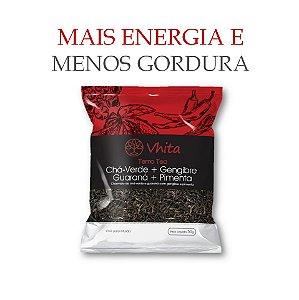 TERMO TEA - Chá 100% natural com Chá Verde + Gengibre + Guaraná + Pimenta.  (1 Sachê de 50g / Consumo para 6 dias / VAL. MAI/2018)