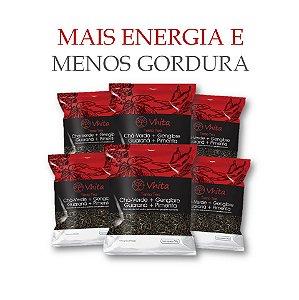 TERMO TEA - Chá 100% natural com Chá Verde + Gengibre + Guaraná + Pimenta.  (6 Sachê de 50g / Consumo para 36 dias / VAL. MAI/2018)
