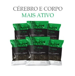 FOCUS TEA – Chá 100% natural com Chá Preto + Guaraná  (6 Sachês de 50g / VAL. MAR/2019)