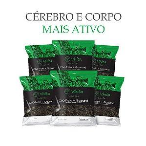 FOCUS TEA – Chá 100% natural com Chá Preto + Guaraná  (6 Sachês de 50g / VAL. MAR/2019)