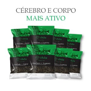 FOCUS TEA – Chá 100% natural com Chá Preto + Guaraná  (8 Sachês de 50g / VAL. MAR/2019)