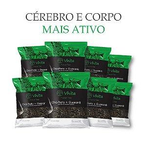 FOCUS TEA – Chá 100% natural com Chá Preto + Guaraná  (8 Sachês de 50g / VAL. MAR/2019)
