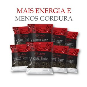 TERMO TEA - Chá 100% natural com Chá Verde + Gengibre + Guaraná + Pimenta.  (8 Sachê de 50g / Consumo para 48 dias / VAL. MAI/2018)