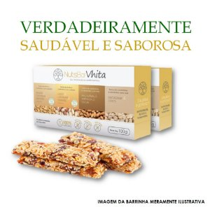 Nuts Bar Vhita  - 2x packs de barrinhas de nuts 100% naturais. (Caixa contém 1x unid. de cada sabor  / 4x barrinhas de 25g cada / VAL. Nov/2017)VAL. MAR/2018)