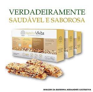 Nuts Bar Vhita  - 3x packs de barrinhas de nuts 100% naturais. (Caixa contém 1x unid. de cada sabor  / 4x barrinhas de 25g cada / VAL. Nov/2017)VAL. MAR/2018)