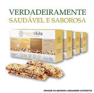 Nuts Bar Vhita  - 4x packs de barrinhas de nuts 100% naturais. (Caixa contém 1x unid. de cada sabor  / 4x barrinhas de 25g cada / VAL. MAR/2018)